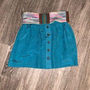 Cute teal skirt XS